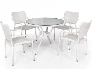 Комплект мебели (стол + 4 кресла) FT 3075-PF FC 3151-PF