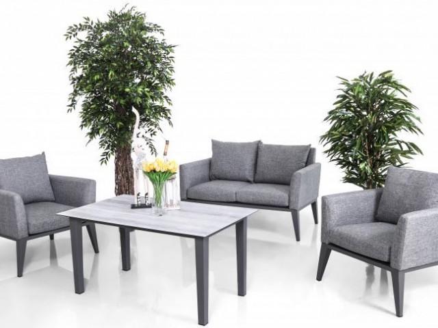 Комплект мебели (Двухместный диван + 2 кресла + 1 стол) HAMBURG